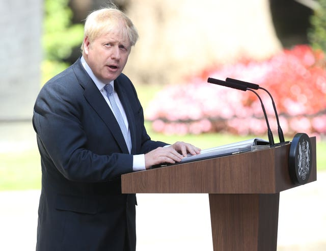 Boris Johnson makes his first speech as PM
