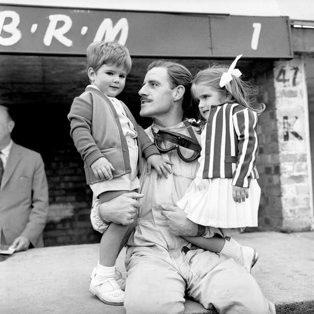 Graham Hill and Family – Silverstone