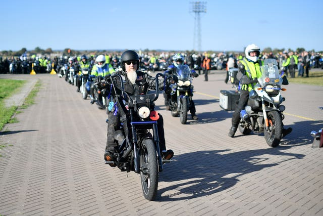 Motorcylists ride in memory of PC Andrew Harper