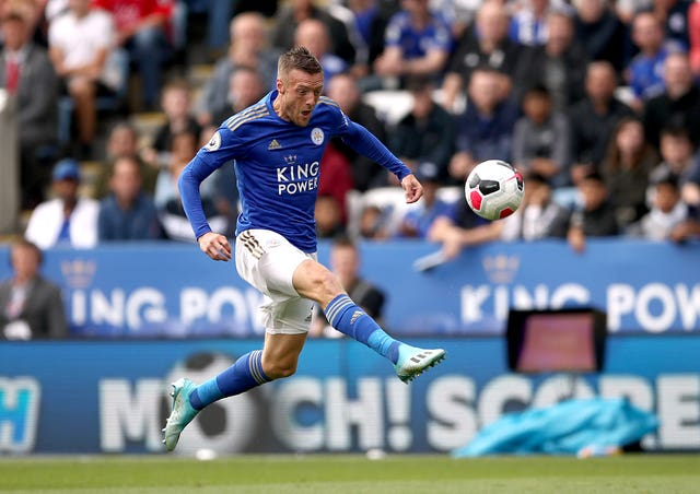 Leicester's Jamie Vardy will come up against United on Saturday
