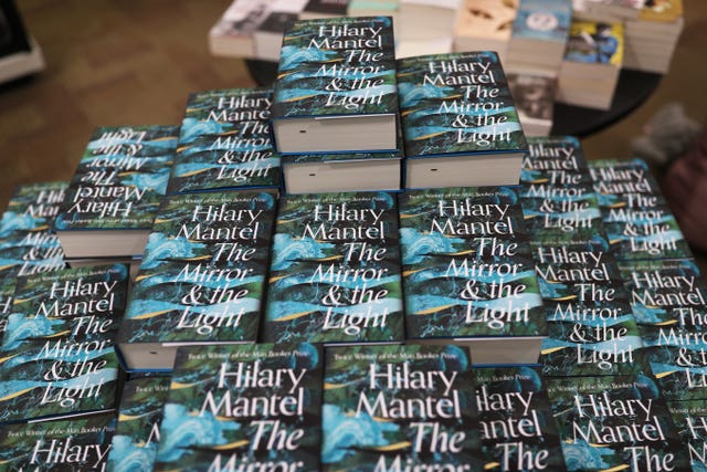 Copies of Hilary Mantel's book the Mirror And The Light