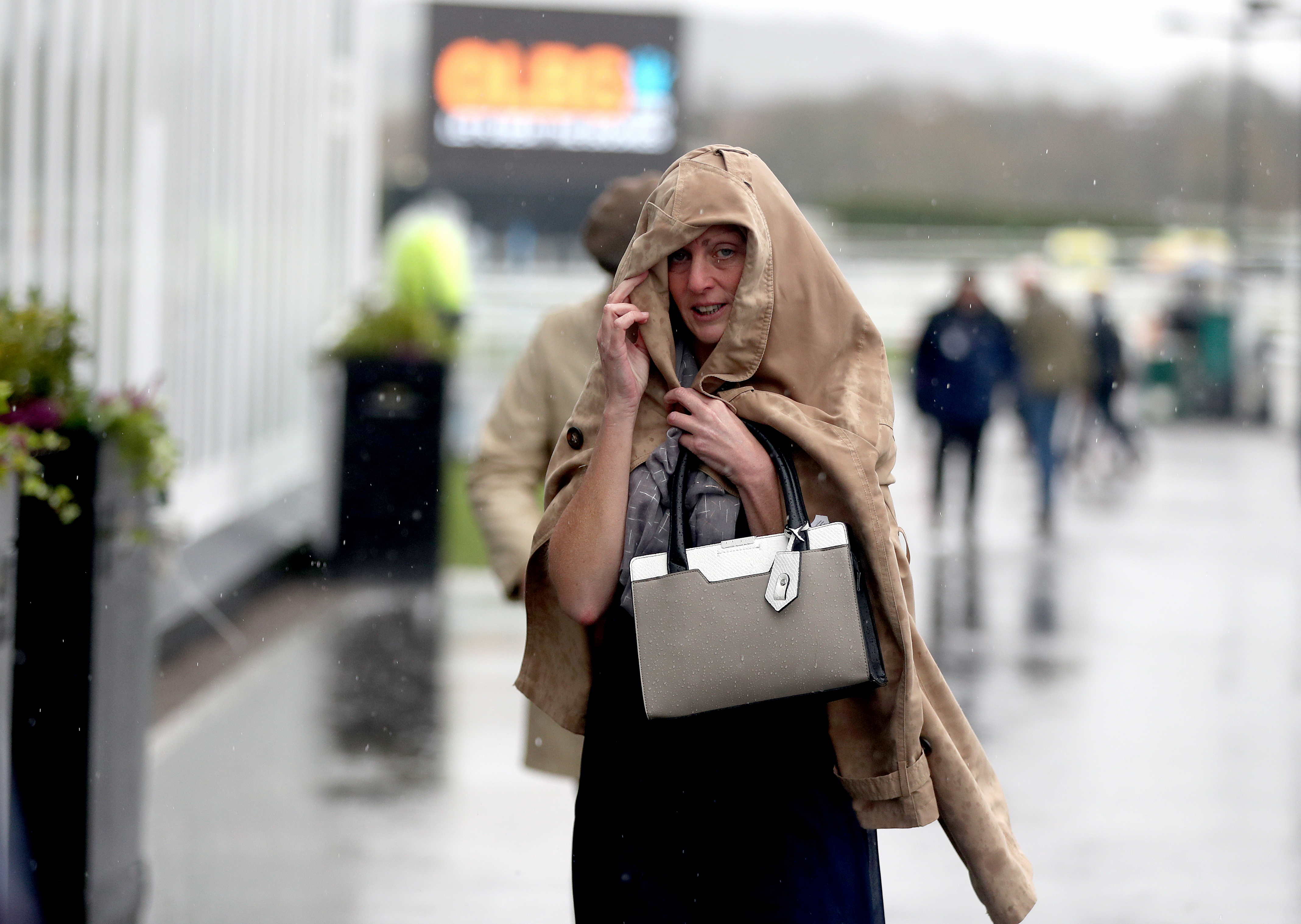Rain, rain: It was a wet start to the Festival for everyone