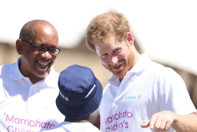 Harry and Prince Seeiso
