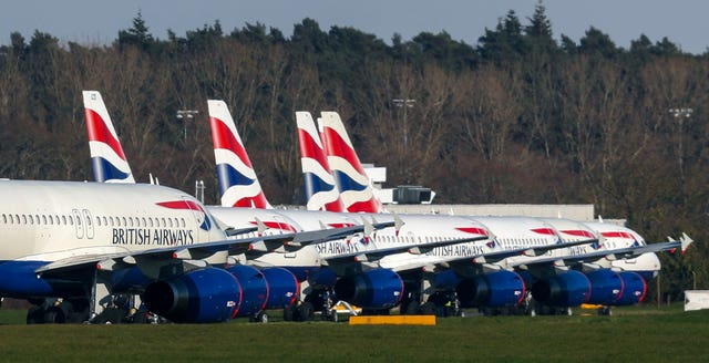 Aircraft parked at Bournemouth Airport (Steve Parsons/PA)