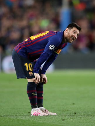 Barcelona's Lionel Messi has struggled with calf and abductor muscle injuries this season