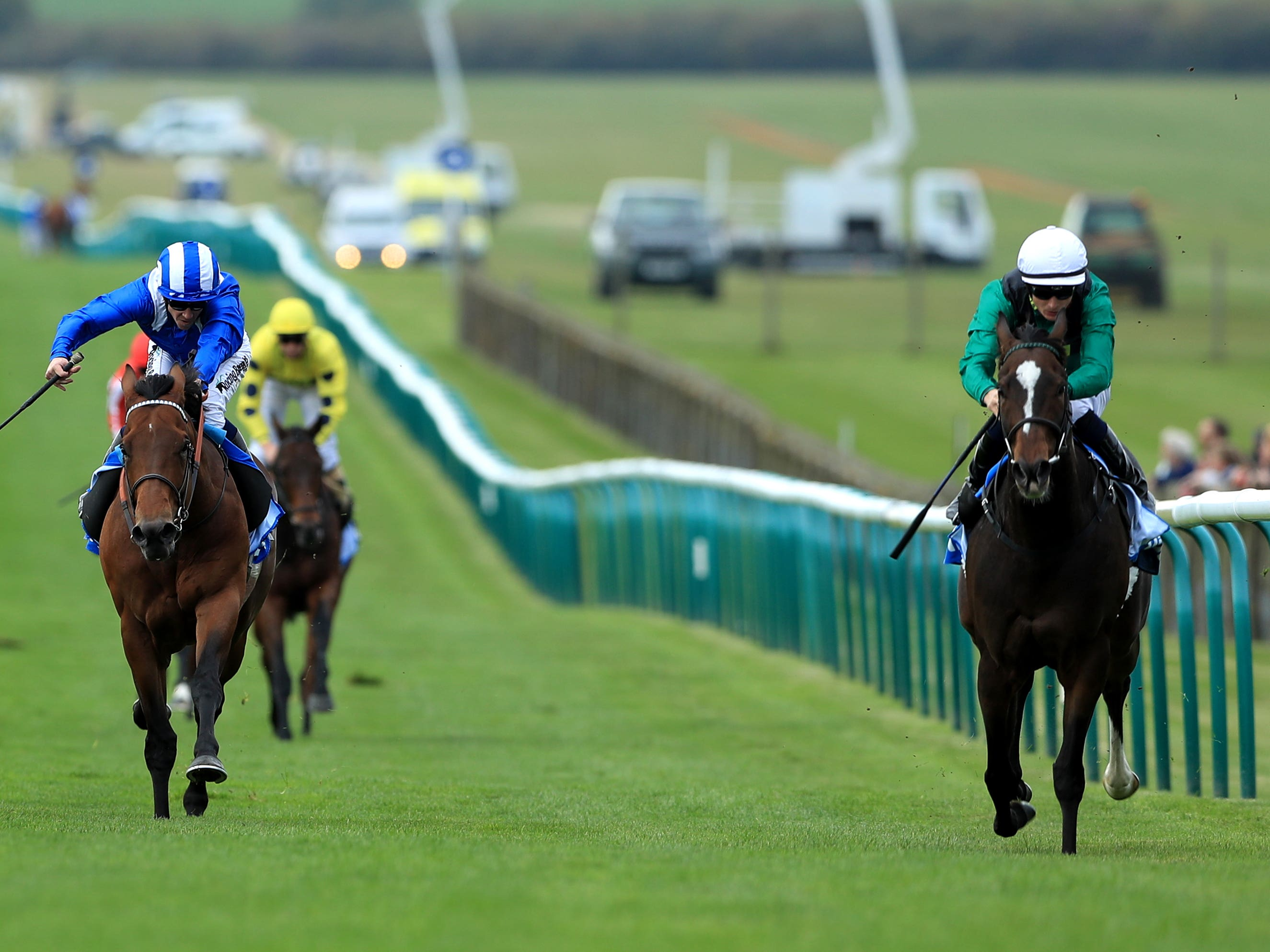 Limato (right) wins the Challenge Stakes at Newmarket last year (Tim Goode/PA)