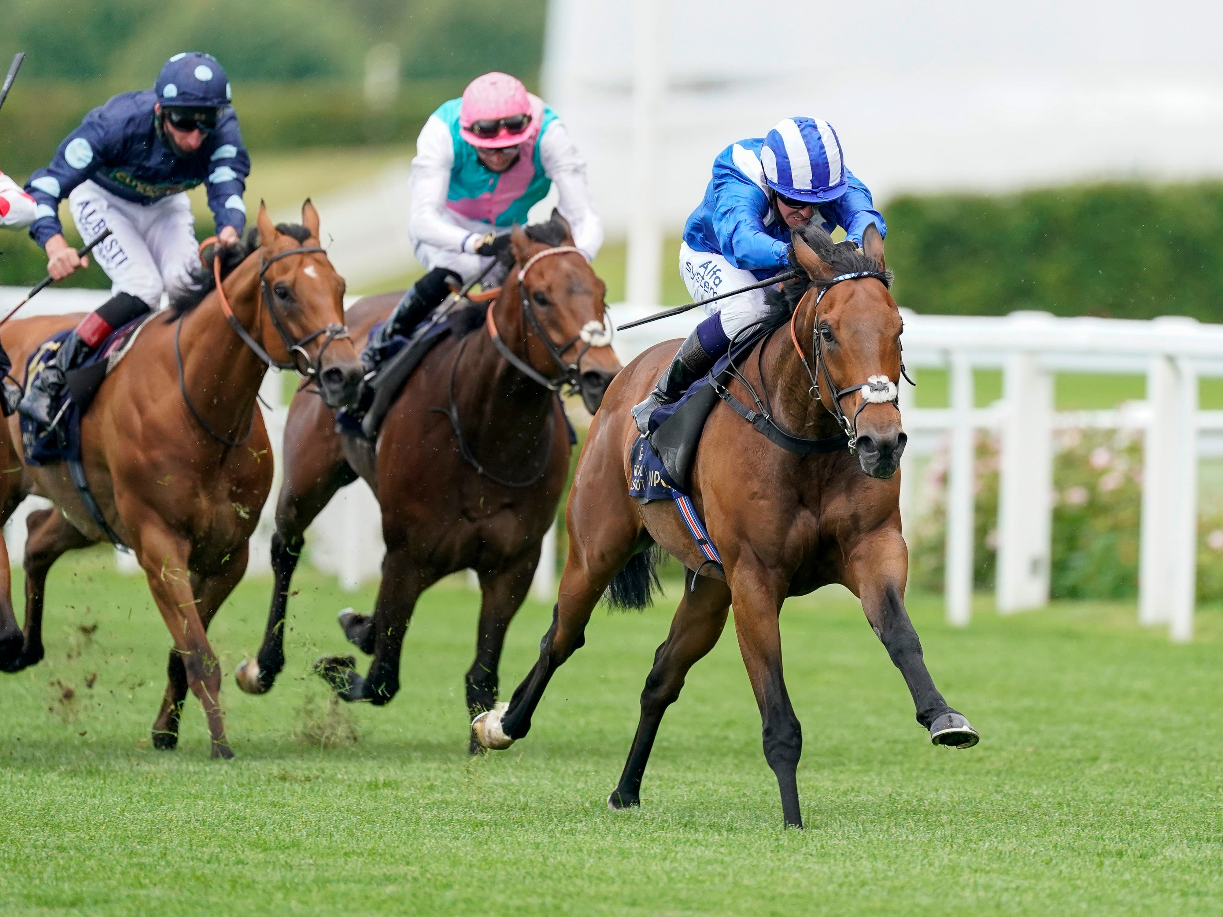 Battaash (right) strides to victory in the King's Stand Stakes at Royal Ascot in 2020 (Alan Crowhurst/PA)