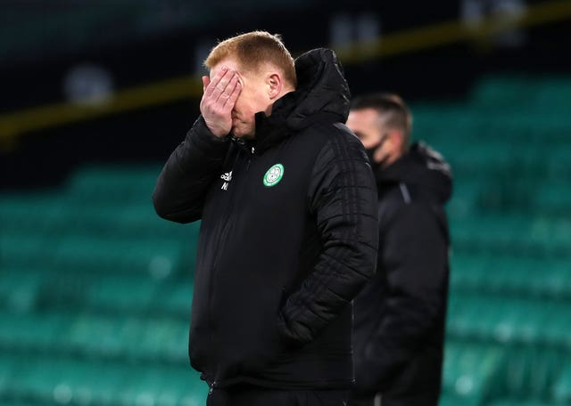 Neil Lennon looks dejected