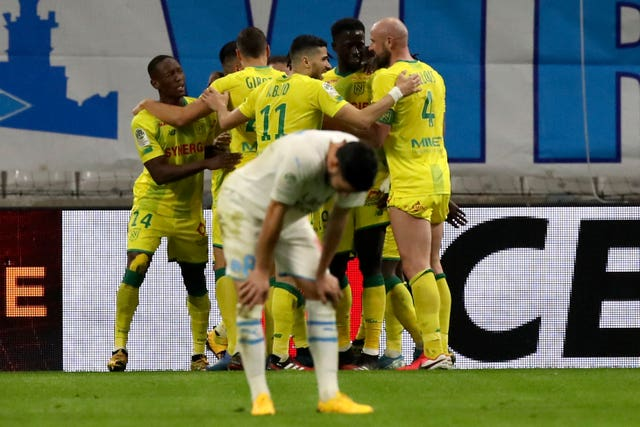 Nantes celebrated a fine away win at Marseille