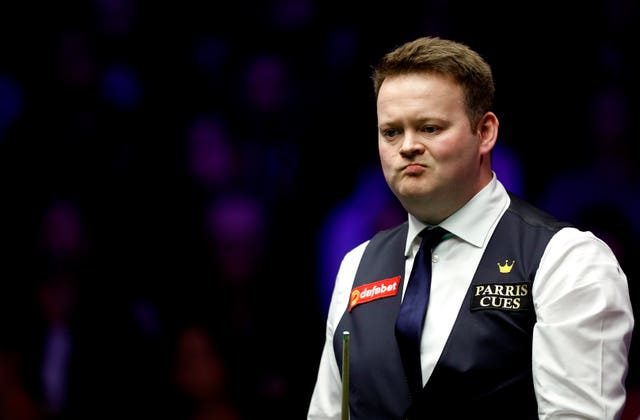 Shaun Murphy (pictured) was beaten 6-1 by Elliot Slessor in the evening session (Steven Paston/PA).