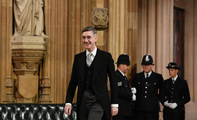 Leader of the House of Commons Jacob Rees-Mogg in the Central Lobby