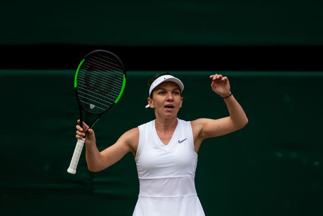 Former world number one Simona Halep secured victory on her return to the WTA tour