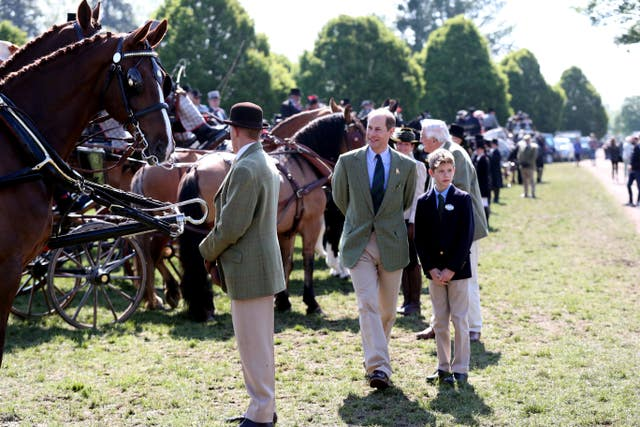 The Earl of Wessex with son James at the Royal Windsor Horse Show