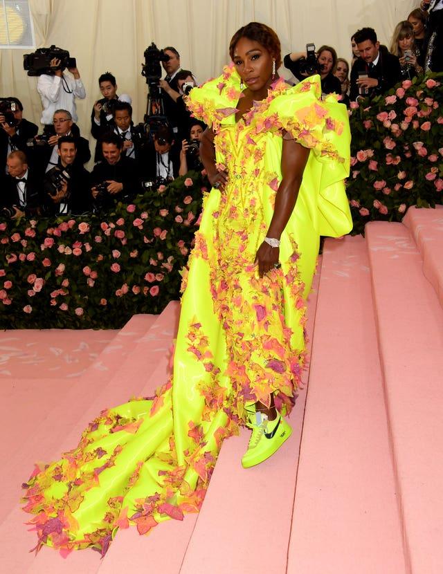 Serena Williams attending the Metropolitan Museum of Art Costume Institute Benefit Gala 2019 in New York, USA (Jennifer Graylock/PA)