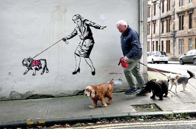 The Pink Bear Rebel street art