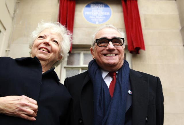 The Irishman editor Thelma Schoonmaker with Martin Scorsese