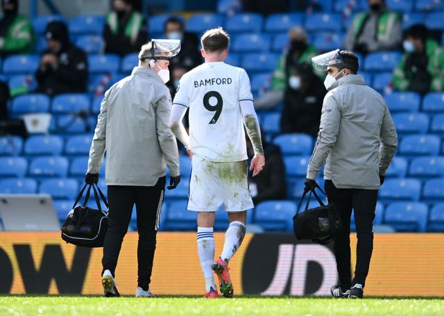 Patrick Bamford was forced off through injury