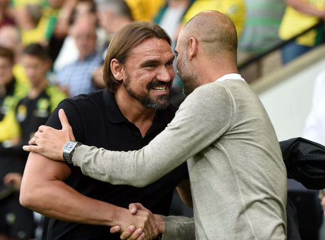 Daniel Farke's Norwich got the better of champions Manchester City early on in the season.