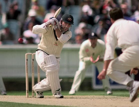 Now Australia's coach, Justin Langer scored 7,696 Test runs