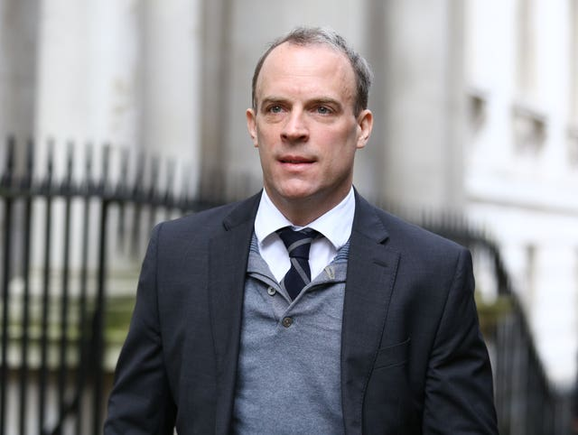 Foreign Secretary Dominic Raab (Aaron Chown/PA Wire)