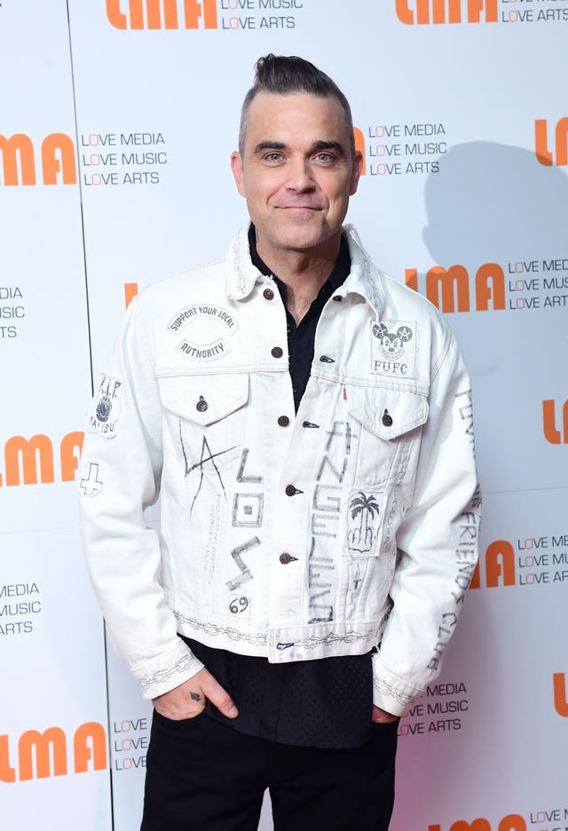 Robbie Williams and LMA conference