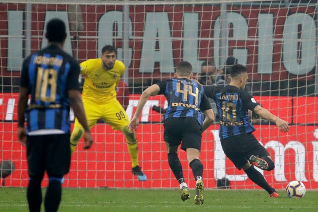 Lautaro Martinez's penalty proved decisive in the Milan derby