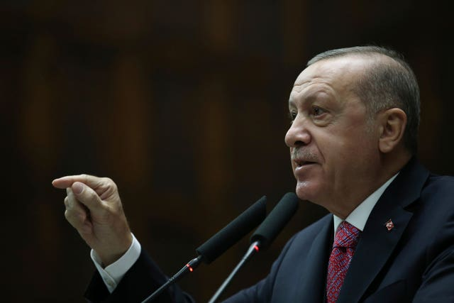 Turkey's President Recep Tayyip Erdogan was targeted with assassination by plotters, the court heard (AP)