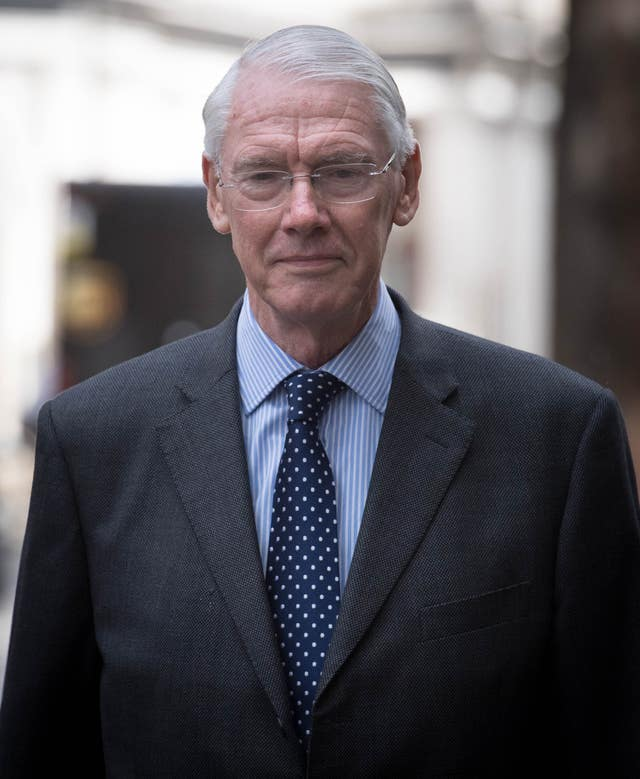 Sir Martin Moore-Bick, chairman of the Grenfell public inquiry (Stefan Rousseau/PA)