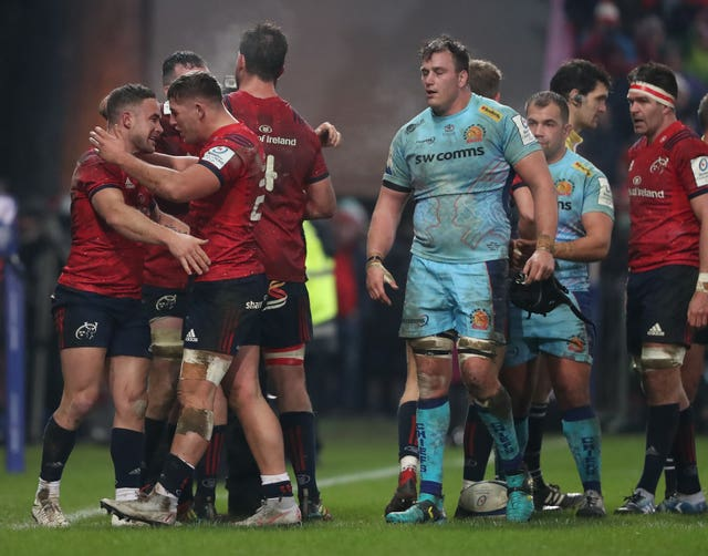 Exeter were knocked out of the Champions Cup after losing 9-7 to Munster