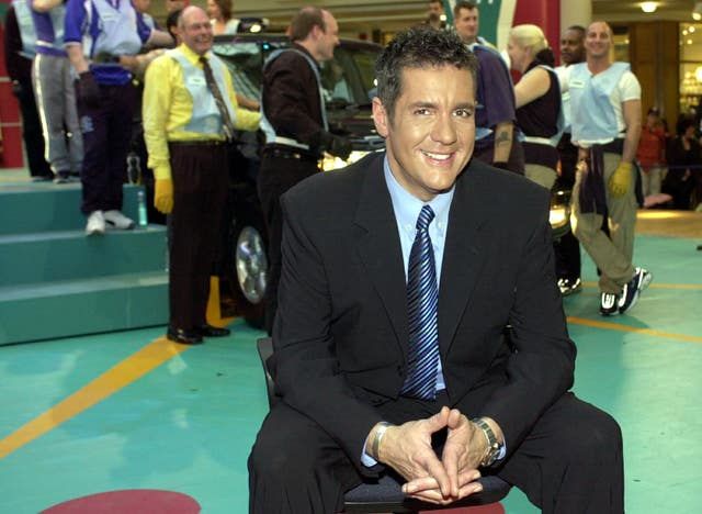 Dale Winton during filming of game show Touch the Truck (Kirsty Wigglesworth/PA)