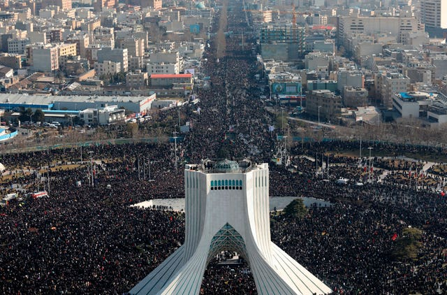 The funeral ceremony in Tehran, Iran, attracted more than one million people