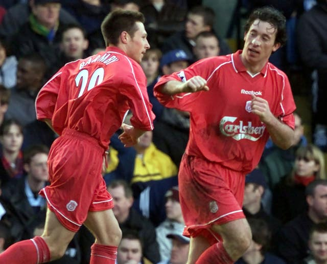Barmby (left) joined Liverpool from Everton in July 2000 (Phil Noble/PA).