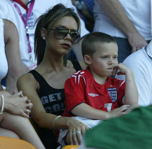 England v Switzerland The Beckham's