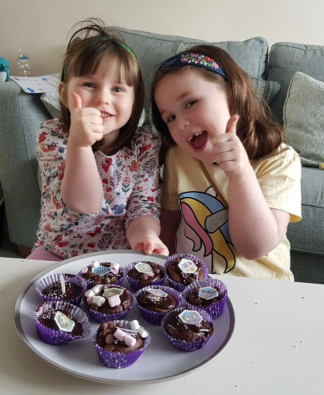 Amelia-Rose Walton (right) with little sister Chloe