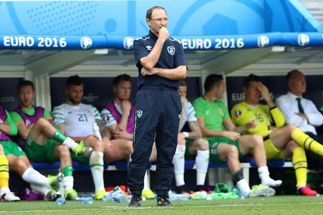 Republic of Ireland manager Martin O'Neill during the round of 16 match against France at Euro 2016
