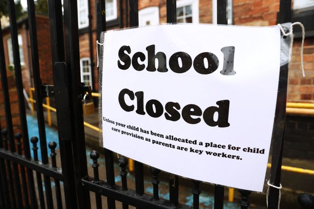 Signage outside a closed West Bridgford Infants School in Nottingham (Tim Goode/PA)