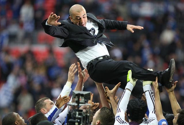 Roberto Di Matteo won the Champions League and FA Cup while in charge of the Blues