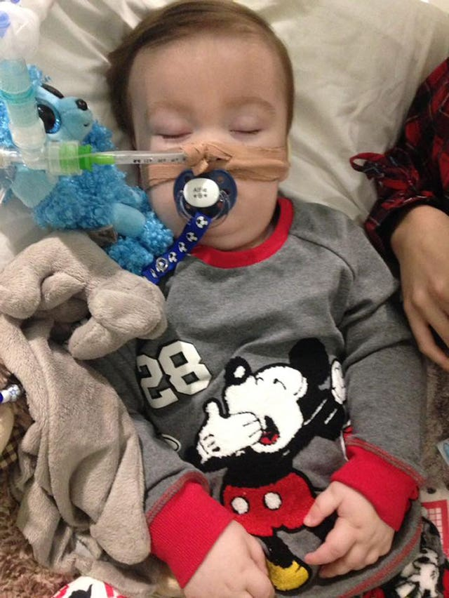 Alfie Evans in hospital (Alfie's Army Official Facebook page/PA)