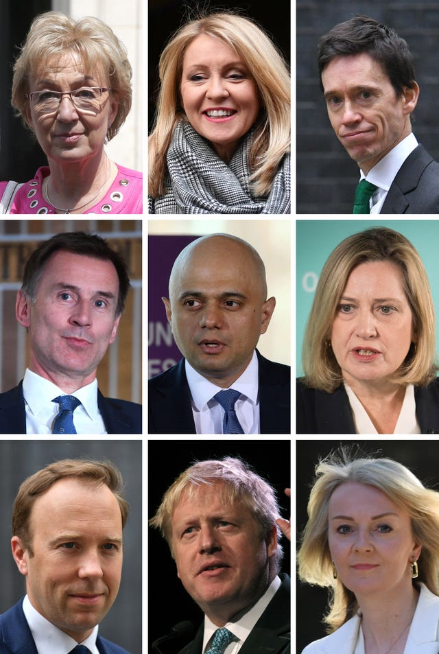 Tory leadership candidates