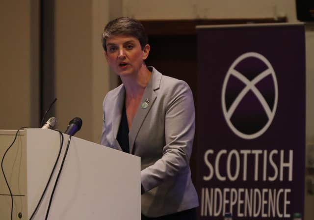 Scottish Green Party co-convener Maggie Chapman