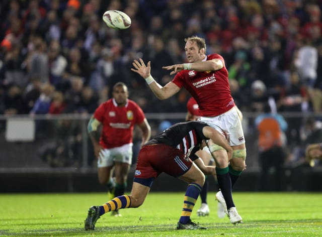 Alun Wyn Jones in action for the Lions