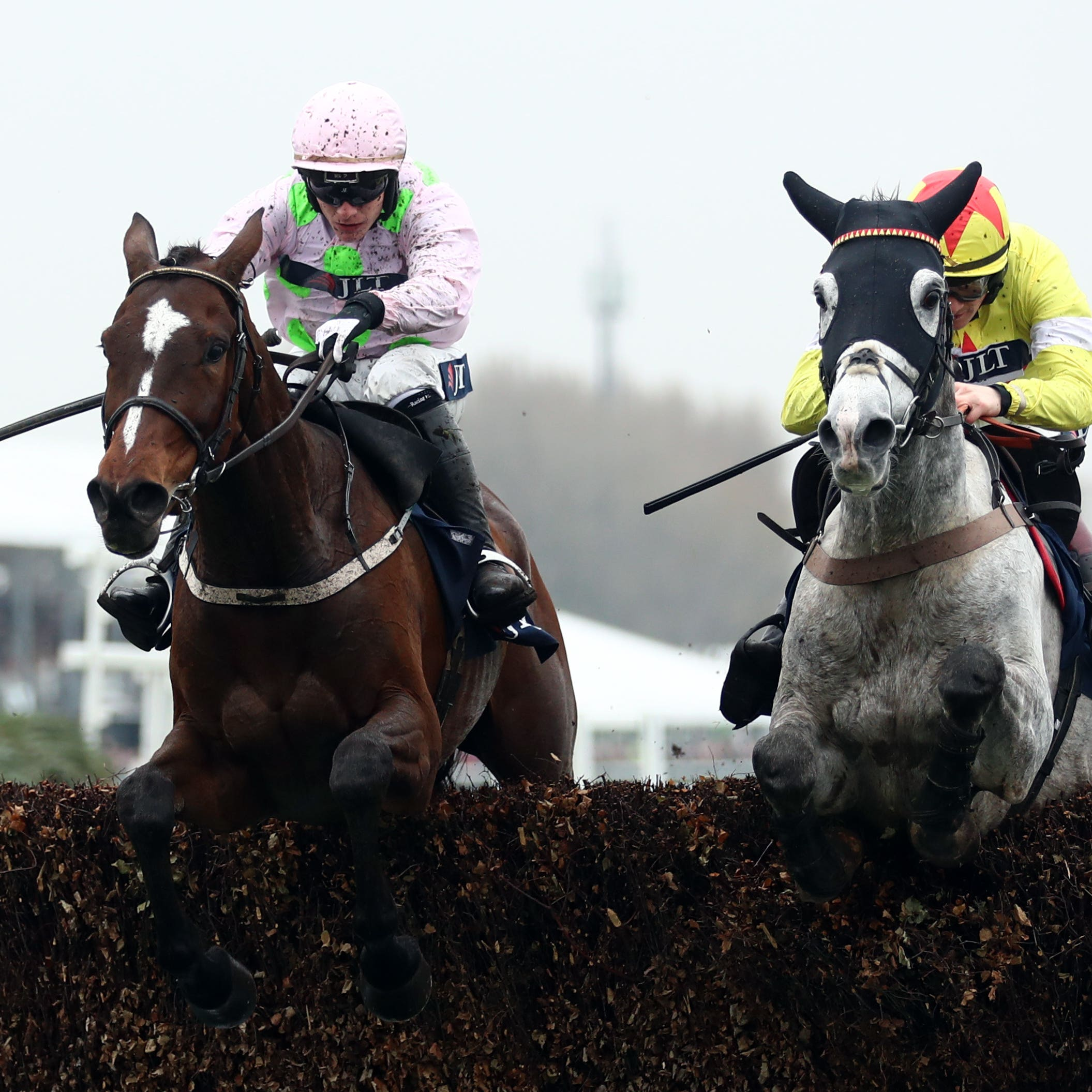 Politologue (right) who Sam Twiston-Davies hopes to be riding in the Betfair Ascot Chase
