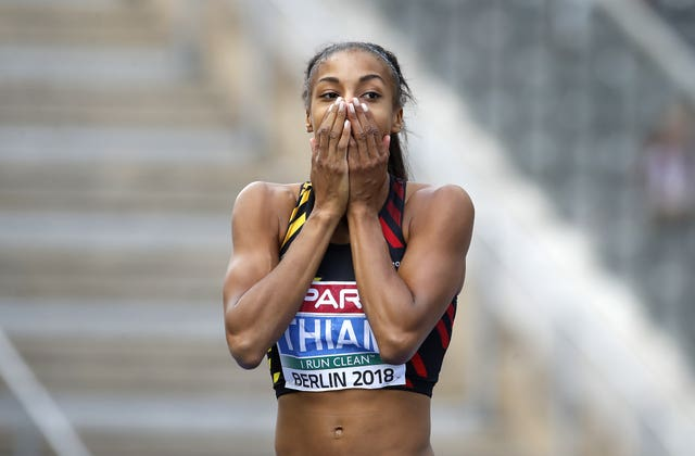 Nafi Thiam took the lead after the javelin event (Martin Rickett/PA)