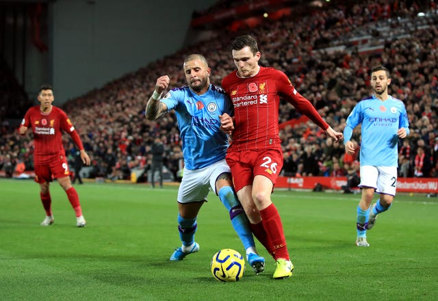 Andy Robertson helped Liverpool to a crucial win on Sunday