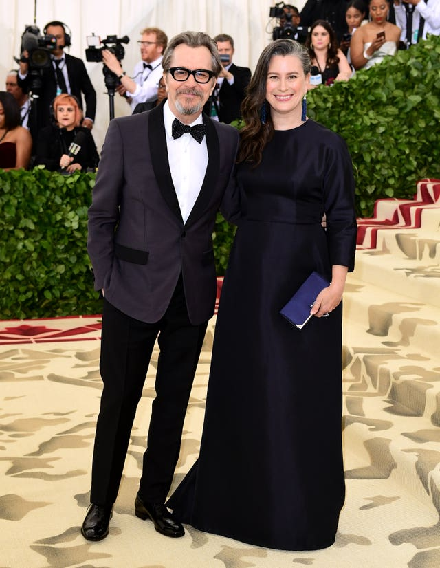 Gary Oldman and Gisele Schmidt (Ian West/PA)