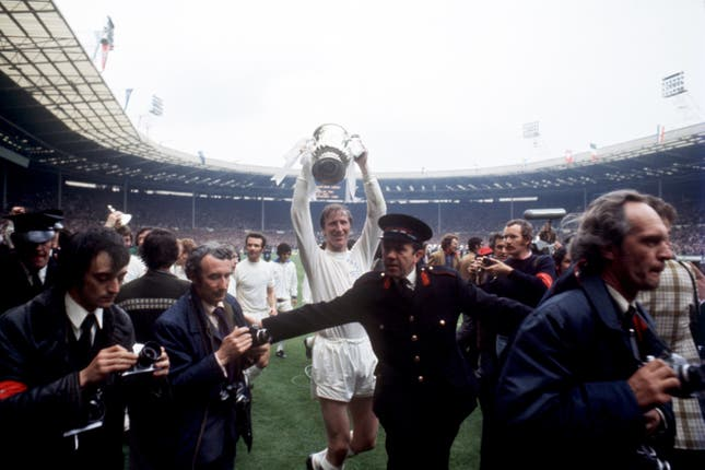Jack Charlton was an FA Cup winner with Leeds