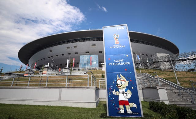 St Petersburg will host matches at Euro 2020
