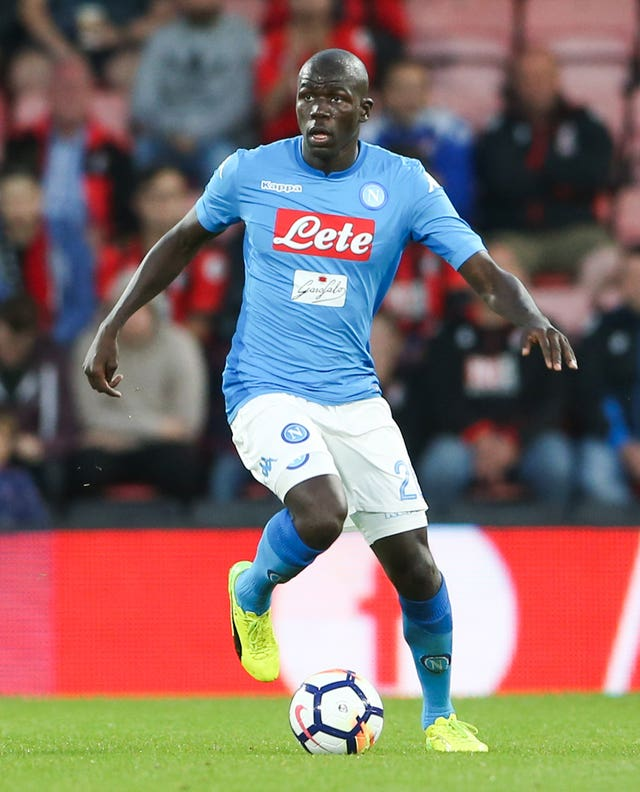 Napoli's Kalidou Koulibaly was strongly linked with City