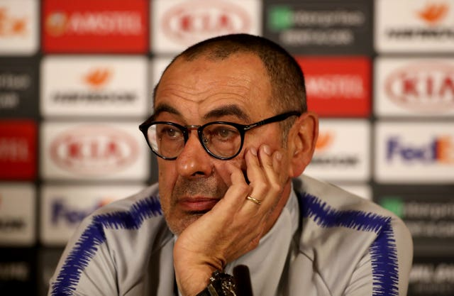 Maurizio Sarri found his position under the spotlight (Mike Egerton/PA)