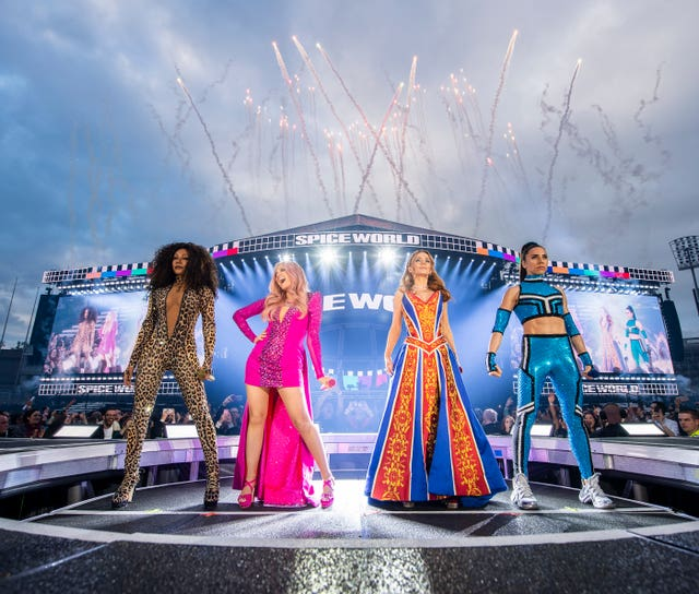 The Spice Girls on tour